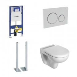 Geberit autoportant Pack avec Toilette suspendue ideal standard blanc avec abattant compris