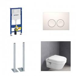 Geberit autoportant pack Villeroy&boch Omnia architectura avec Delta 21 touche blanche Complet