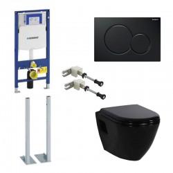 Geberit autoportant Pack Duofix Sigma avec Design cuvette suspendue noir avec lunettes soft-close et touche noir
