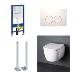Geberit autoportant Pack WC suspendu Blanc Compact Geberit duofix avec cuvette soft-close complet