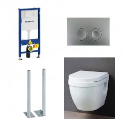 Geberit autoportant Pack WC suspendu Geberit duofix avec cuvette soft-close complet