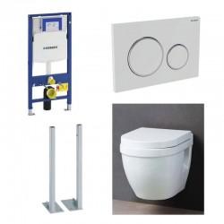 Geberit autoportant up320 Pack WC suspendu avec abattant soft-close complet