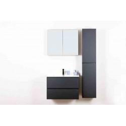 Banio ensemble meuble de salle de bain Roma 80CM anthracite mat complet