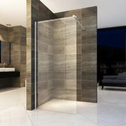 Banio paroi de douche avec verre securit 8mm 140x200cm
