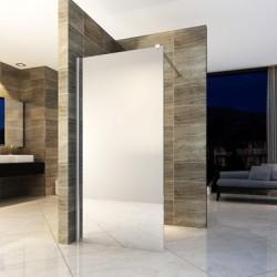 Banio paroi de douche avec verre securit 8mm 80x200cm - verre miroir
