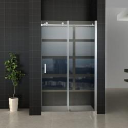 Banio porte de douche coulissante avec verre securit 8mm 120x195cm - chrome