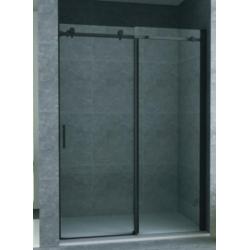Banio porte de douche coulissante avec verre securit 8mm 140x195cm - noir mat