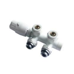 Banio robinet thermostatique radiateur d'angle équerre blanc