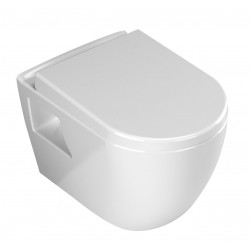 Banio WC suspendu design avec abattant soft-close - blanc