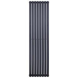 Banio radiateur ovale design vertical simple - 180x47,2cm 790w noir mat
