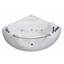 Banio baignoire d'angle Bolivo avec balnéo Whirlpool 140x140cm