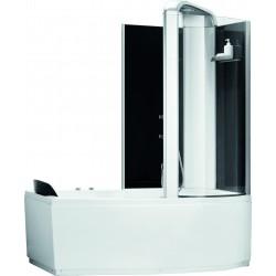 Combiné douche et baignoire bain Alexie 150cm Droite