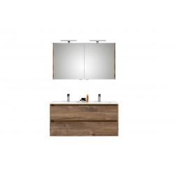 Pelipal meuble de salle de bain avec armoire miroir Calypsos120 - chêne foncé