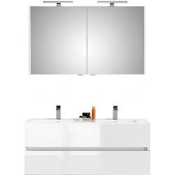 Pelipal meuble de salle de bain avec armoire miroir Cento120 - blanc
