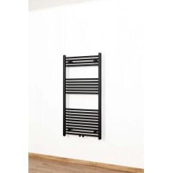 Radiateur Dori sèche-serviette design 120x60cm noir mat 524watt