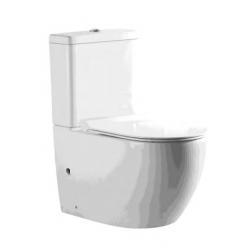 Banio-Gorik WC sur pieds complet Rimless sans bride avec abattant softclose Blanc