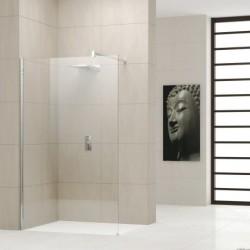 Novellini  giada h 60 dimension extensible de  58-59,5 cm verre trempe transparent  silver