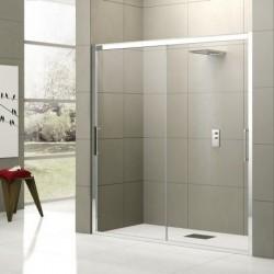 Novellini  rose 2m 136 dimension extensible de  136-142 cm vitrage satin  profilé blanc